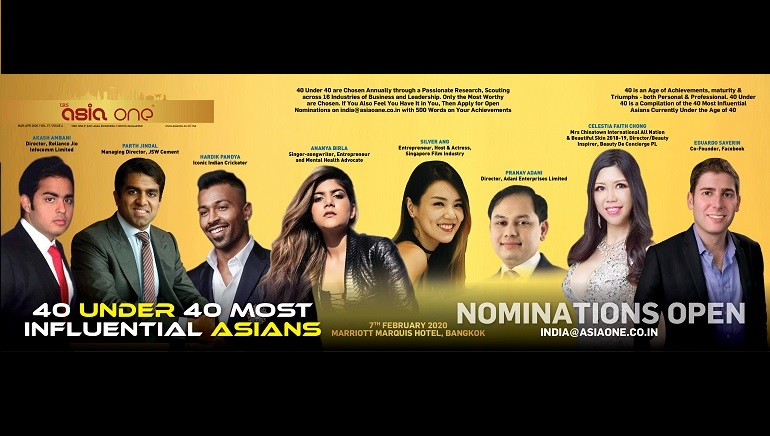 AsiaOne 40 Under 40 Most Influential Asians
