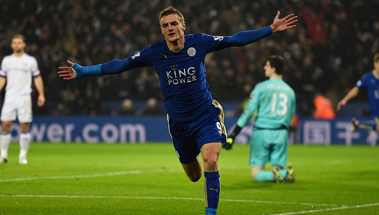 Jamie Vardy of Leicester City is the Footballer of the Year