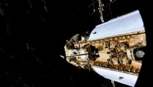 The Russian Nauka module safely docked up at space station