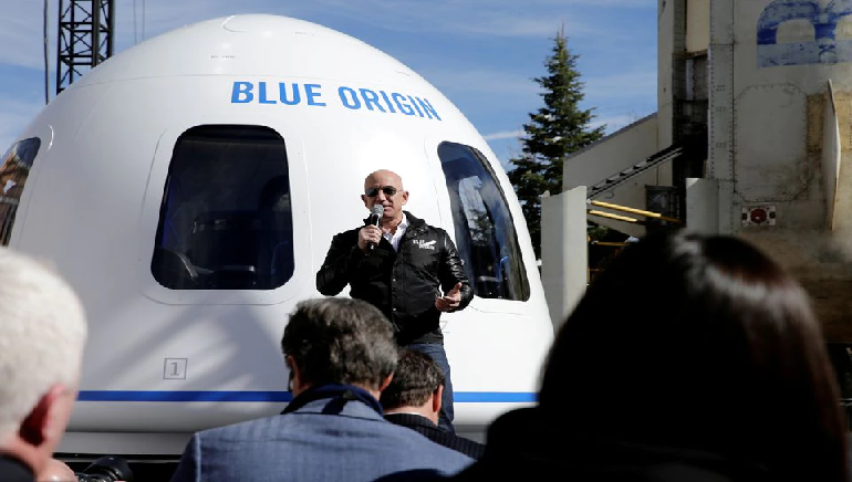 Blue Origin's Bezos reaches space on 1st passenger flight