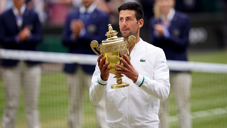 Novak Djokovic wins Men's Singles Wimbledon Grand Slam Title 2021