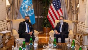 US Blinken meets WHO Chief Tedros to support the probe into covid origins