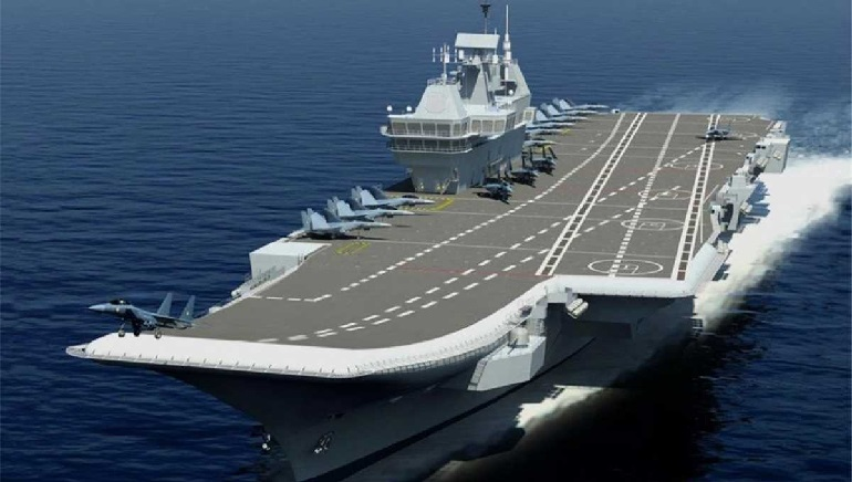India's first-ever Made-In-India Aircraft carrier Vikrant sails for maiden trails