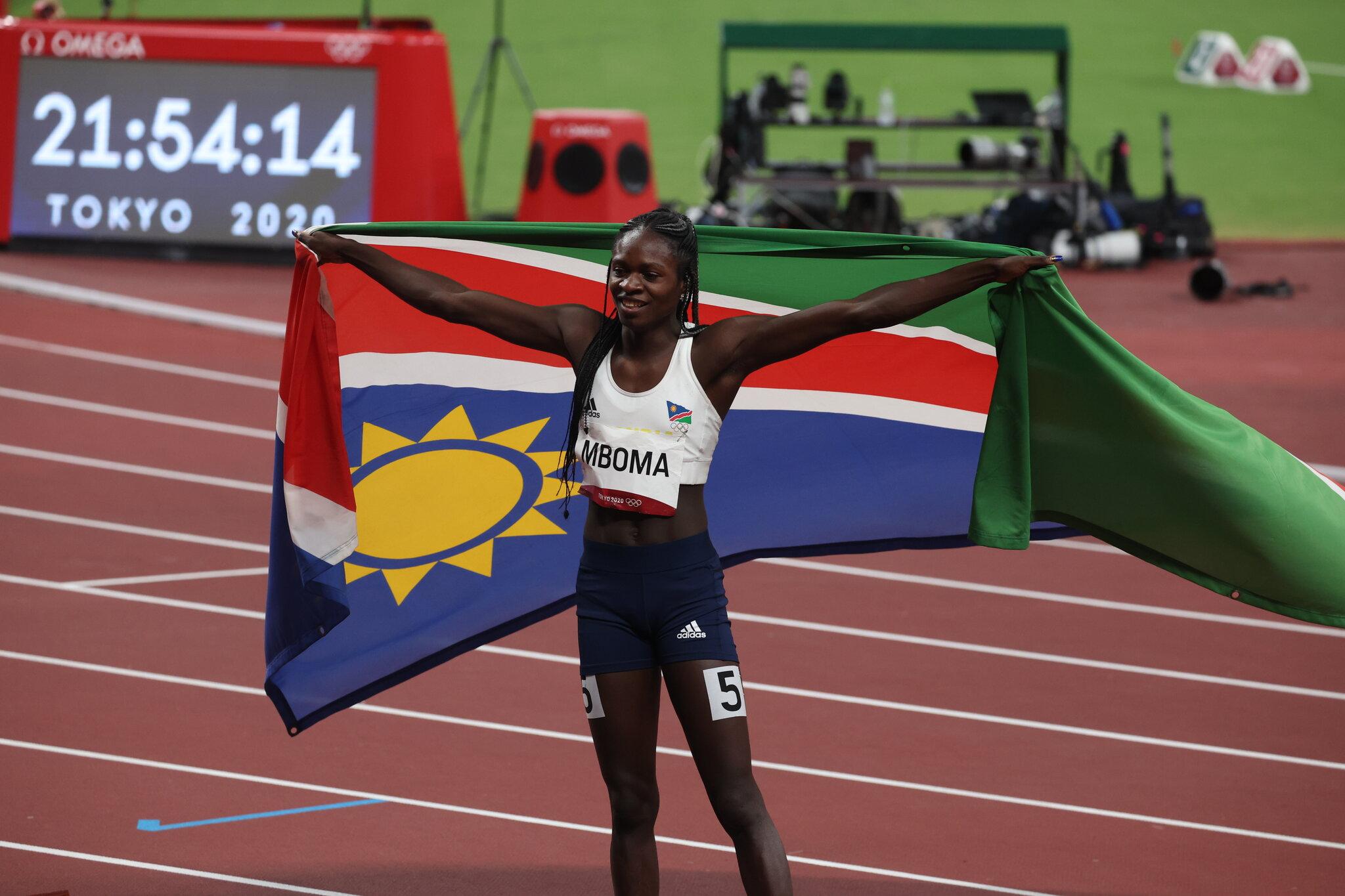 Namibia's Mboma creates history by winning silver at Olympics