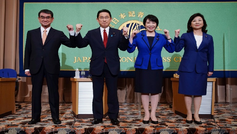 Japan's Former Foreign Minister Win Votes to Become the New Prime Minister and Replace PM Suga