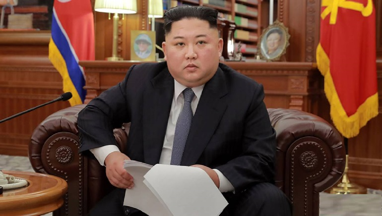 North Korea's leader blames the US, South Korea for the threat of nuclear attack on peace